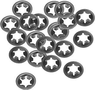 60 St/ück schwarzes Oxid-Finish 4,3 mm Innenzahnung 12 mm Au/ßendurchmesser Sourcing Map M5 Starlock-Unterlegscheibe Sicherungsringe zum Aufstecken 65 Mn