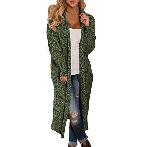 62414ca7e9951 Happy Sailed Womens Open Front Knit Long Cardigan with Pockets