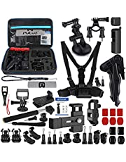 Honorall 43-in-1 Accessories Kit Includes Chest Strap/Suction Cup Mount/Grip Tripod Mount/Handlebar Mount and More for DJi Osmo Pocket with EVA Case