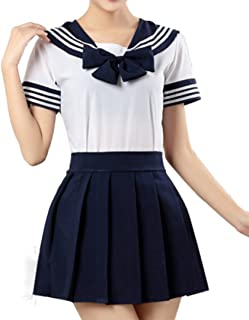 WenHong School Uniform Dress Cosplay Costume Japan Anime Girl Lady Lolita