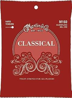 Martin M160 Silverplated Ball End Classical Guitar Strings, High Tension