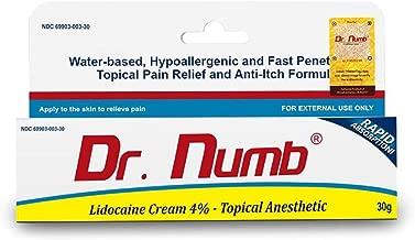 1 Tube of Dr. Numb Maximum Topical Anesthetic Cream, Lidocaine 4% ~ Net Wt 1 Oz (30g)