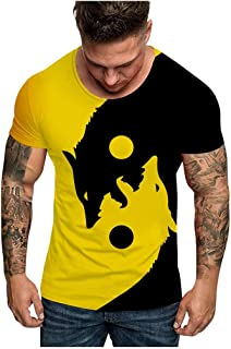 2019 Ford Mustang camiseta hombres gradiente Color manga