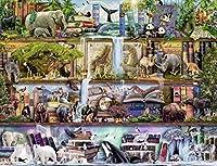 1000ピースのジグソーパズル大人と子供のためのジグソーパズルゲーム家族の減圧ゲーム-動物の風景 26 X 38cm