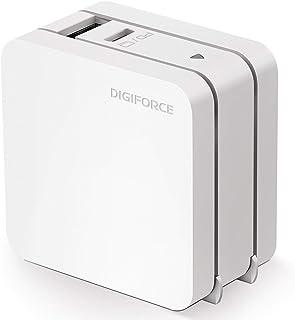 DIGIFORCE PD 急速 充電器 65W Type-C GaN 窒化ガリウム USB-A USB-C 2ポート 折畳式 acアダプター ホワイト