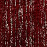 Con tejido de chenilla, tela, Rojo, By Half-Metre