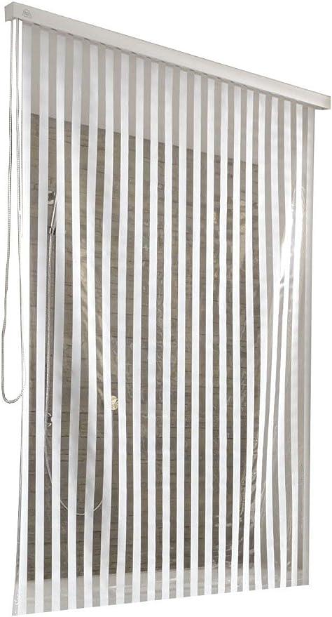 per Sostegno Piccolo Colore Bianco Kleine Wolke 3321109747 128 x 240 cm Tenda da Doccia avvolgibile