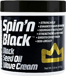 Wave King x Wavebuilder Spin'n Black Wave Cream with Black Seed Oil for Elite Wavers