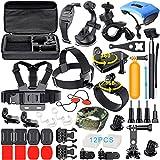 アウトドア・スポーツ必要不可欠のアクセサリー(マウント)がセットになったオールインワン商品です。スカイダイビング/水泳/サーフィン/サイクリング/スキー/登山/スノーボードなど最適です。 対応カメラ:gopro hero5 black/hero5 Session/hero4 Session/hero4 silver//hero4 black/hero3+/hero3/hero2/ hero+/sj4000/sj5000/sj6000/Xiaomi Yi/Lightdow/WiMiUS/DBPOW...