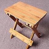 NITRIP Wooden Mini Stool, Foldable Square Stool, Square Stool Folding Step Stool for Kids Camping Children Fishing