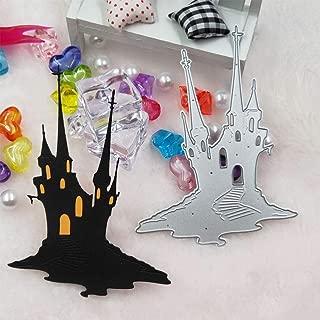 BeesClover Halloween Church Haunted House Metal Cutting Dies Craft Dies Scrapbooking for DIY Postcards Gift Making Dies Cuts