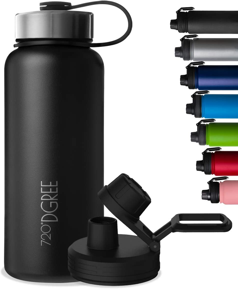 """720°DGREE Edelstahl Trinkflasche """"noLimit"""" – 410ml, 530ml, 710ml, 950ml, 1200ml - Auslaufsicher bei Kohlensäure, BPA-Frei - Schraubverschluss..."""
