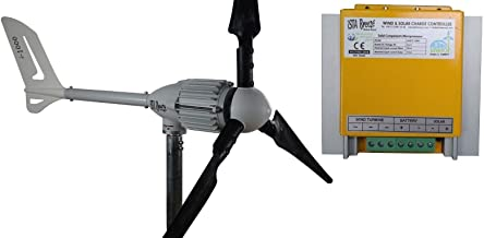 ISTABREEZE Kit 1000W 48V Wind Turbine Black Edition + Hybrid Charge Controller