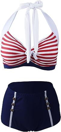37a3229bada67 Suchergebnis auf Amazon.de für: bikini 50er style: Sport & Freizeit