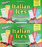 Wylers Authentic Italian Ices Original Flavors(2 Pack) ((40) 1.5oz pops (2/20ct boxes))