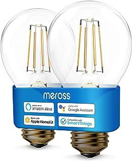 meross Lampadina Intelligente Wifi LED Dimmerabile E27 A19 Vintage Edison, Smart Light Compatibile con HomeKit, SmartThing...