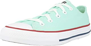 Converse Chuck Taylor All Star Ox Ocean Mint/Garnet/White Canvas Junior Trainers Shoes
