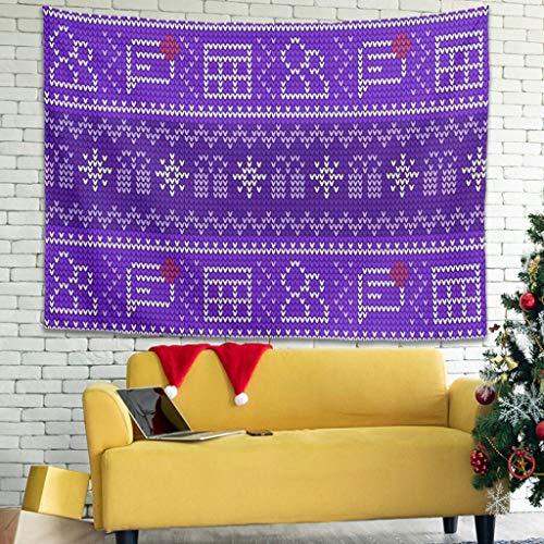 Ballbollbll Tapiz geométrico de corazón de enrejado de diamantes para colgar en la pared, fundas de sofá, manta blanca de 200,7 x 149,8 cm