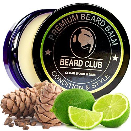 Premium Qualitäts Balsam für den Bart | Zedernholz Und Limette Bartbalsam / Beard Balm | Natürlich und Organisch | Der beste Bart Conditioner & Weichmacher, um Ihren Bart zu formen und zu stylen, während Sie Bart Juckreiz & Flakes stoppen | Ideal für Haarpflege und Wachstum