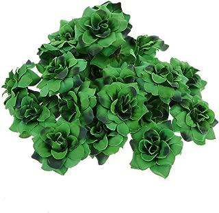 ULTNICE Artificial Faux Flower Heads Home Garden Party Decor 50pcs(Dark Green)
