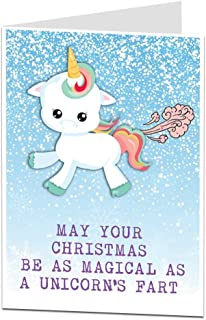 Luxury A5 UNICORN Christmas Card GIrls Daughter Granddaughter