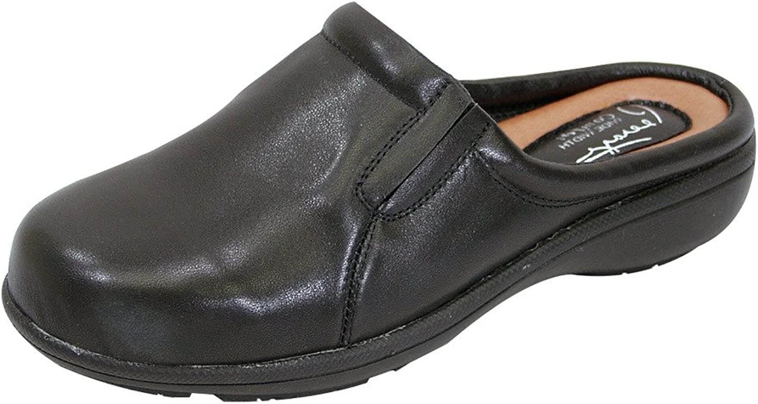 Perage FIC Mary kvinnor bred bred bred Width Comfort läder Clog for All Occause (Storlek  Measuremänt Guide Tillgänglig  klassisk stil