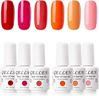 Gellen Gel Nail Polish Set Grace Grays of Pinks Grays Blues - The Plain Charm Series- 8ml Nail Gel Art Kit