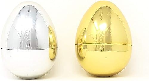 Mejor precio Plastic Metallic oro and plata plata plata Easter Egg Containers, by Unknown  servicio honesto