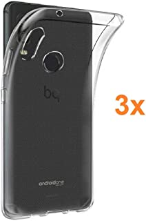 Pack 3X Case Flexible Silicone TPU for BQ AQUARIS X2 - X2 PRO, Ultra Thin 0.33mm, Crystal Clear