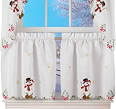 Best snowman kitchen curtains Reviews