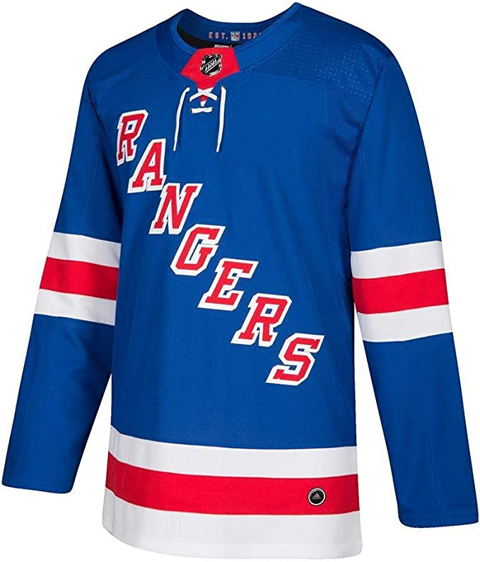 adidas New York Rangers NHL Climalite Authentic Team Hockey Jersey para hombre
