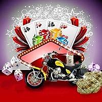 GladsBuy Luxury Motorcycle Exhibition 10' x 10'コンピュータ印刷写真バックドロップ他テーマ背景dgx-383