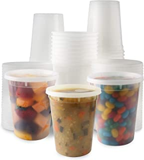 Plastic Deli Food Storage Containers With Leak-Proof Lids 48 Pack, 32 Oz | Microwaveable Airtight Container For Soups, Snacks, Meal Prep, Salad, Ice Cream | BPA-Free Kitchen & Restaurant Supplies (48)