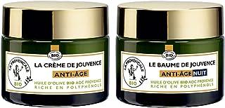 La Provençale Bio - Routine Visage Anti-Âge Crème Jour & Nuit Certifiée Bio - Huile d'Olive BIO AOP Provence - Pour Tous T...