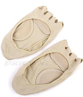 Calcetines invisibles de 5 dedos para mujer, absorbentes de golpes, sin dedos, antideslizantes, con agarre en el talón