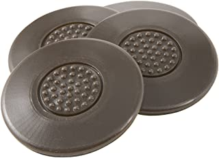 "SoftTouch Self-Stick Heavy Duty Non-Slip Surface Grip Pads - (4 pieces), 2-1/2"" Round - Brown"