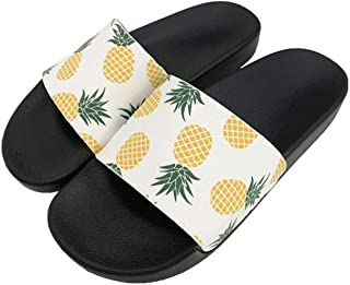 Cute Pineapple Seaside Slippers Flip Flops Sandal Non-Slip On Slides Shoes Women