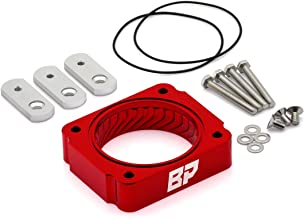 BlackPath - Fits Mustang Throttle Body Spacer Ford Performance (Red) T6 Billet