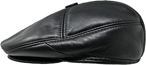 TangTown Soft Lambskin Leather Flat Cap Gatsby Newsboy Driving Warm Winter Ivy Hat