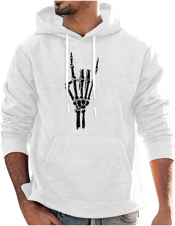 Bravetoshop Men's Hoodie Novelty Graphic Sweatshirt Long Sleeve Street Fashion Hoodies Pullover Tops