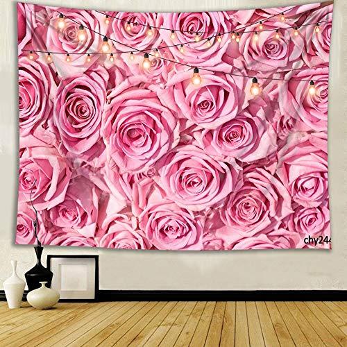 WERT Varias Hermosas Flores Rosas Girasol Tulipanes Boda romántica decoración de Interiores Tapiz Tela de Fondo A5 130x150cm