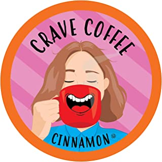 Crave Flavored Coffee Pods, Compatible with 2.0 K-Cup Brewers, Cinnamon, 40 Count