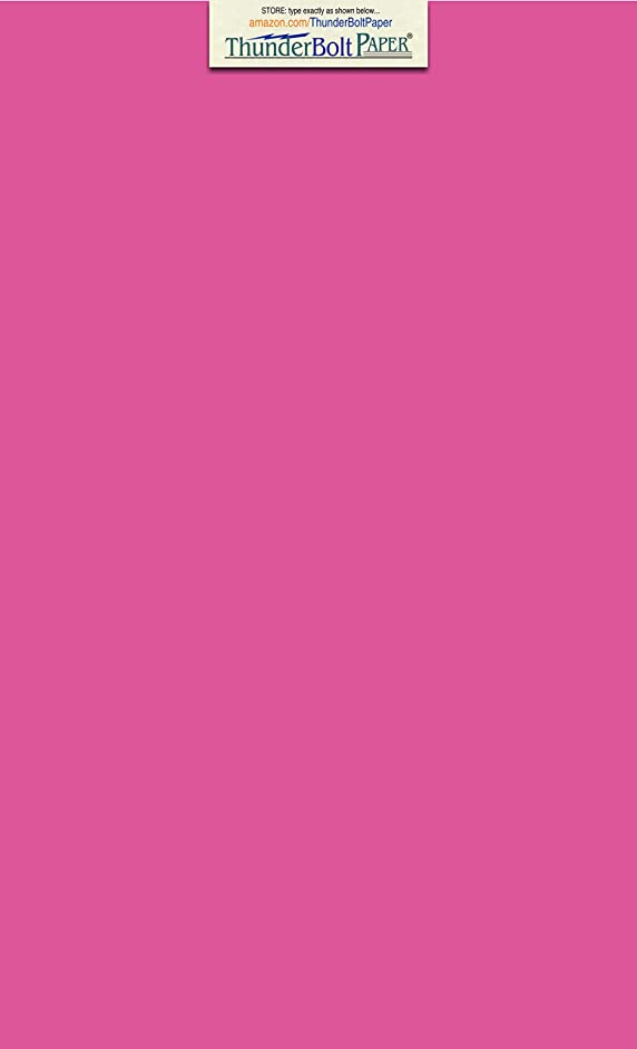 100 Bright Hot Pink 65lb Cover|Card Paper - 8.5 X 14 Inches Legal & Menu Size - 65 lb/Pound Light Weight Cardstock - Quality Printable Smooth Surface for Bright Colorful Results