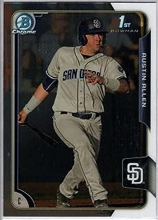 2015 Bowman Chrome Draft #123 Austin Allen Padres MLB Baseball