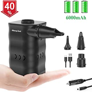 Electric Air Pump, Portable Quick-Fill Air Pump for Inflatables, Rechargeable Inflator/Deflator Pumps with Nozzles for Outdoor Camping Inflatable Cushions, Air Mattress, Boats, Pool Toy, Swimming Ring
