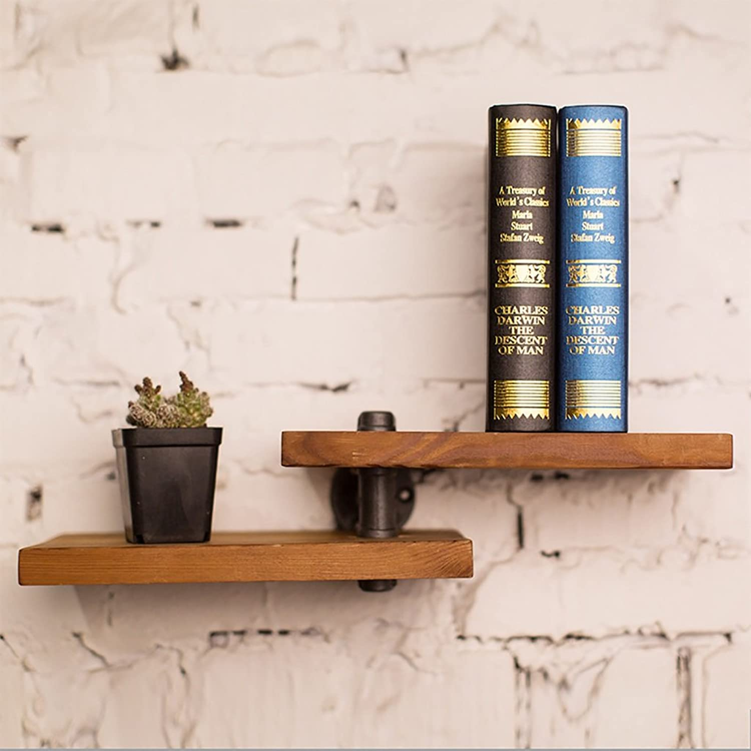 Iron Tube Retro Bookshelf LOFT Iron Water Pipe Wall Hanging Shelves Shelves Water Pipe Display Stand