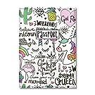 Quttie, Cute Vegan Eco Leather Passport Cover for Women, Men, Kids (Ladies Unicorn Pattern)