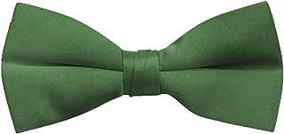 BG Men's Classic Poly Satin Clip On Bow Ties for Suit Tuxedo - Dozens of Colors