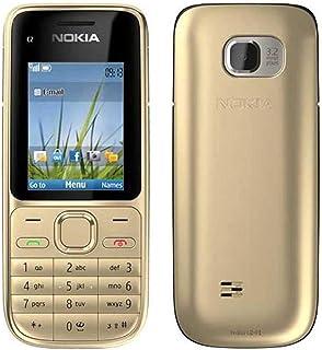 نوكيا C2-01 Gold Color Mobile، شاشة 2 بوصة - كاميرا 3.15 ميجا بكسل - ذاكرة رام 64 ميجابايت - فتح القفل (ذهبي)