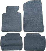 Floor Mat Compatible With 1999-2005 BMW E46 3-Series | Front & Rear Gray 4PC Nylon Car Floor Carpets Carpet liner by IKON MOTORSPORTS | ?2000 2001 2002 2003 2004